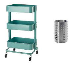 Cart and utensil holder