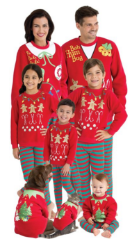 Matching Ugly Christmas Sweater Pajamas for the Whole Family