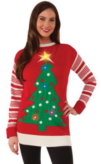 Light Up Tree Ugly Christmas Sweater​