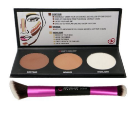 City Color Contour Effects Palette & Dual-Ended Contour Brush Set
