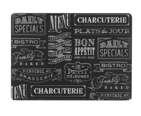 Now Designs Cork Backed Placemats, Chalkboard, Set of 4