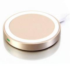 Qi Wireless Charger, GMYLE Mini Qi Charging Pad for All Qi Compatible Smartphones - Gold / White (Limited Edition)