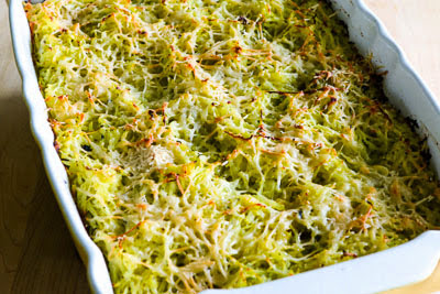 Twice-Baked Spaghetti Squash with Pesto and Parmesan