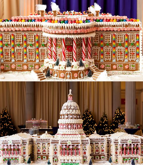 Gingerbread White House and Capitol