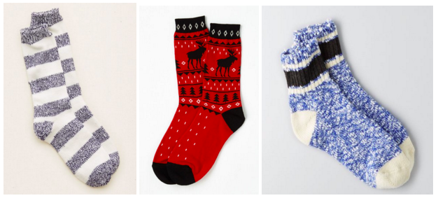 Fuzzy Socks for the Holidays