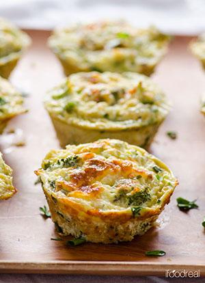 Quinoa and Broccoli Egg Muffins