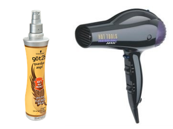 heat protectant and blow dryer
