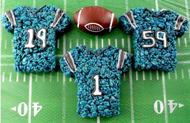 Carolina Panthers Rice Krispie Treat