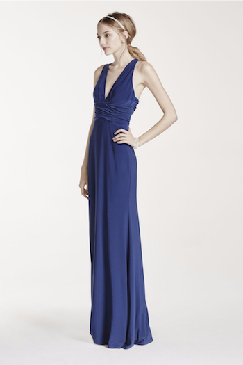 Embellished Strappy Back Dress with Ruched Waist