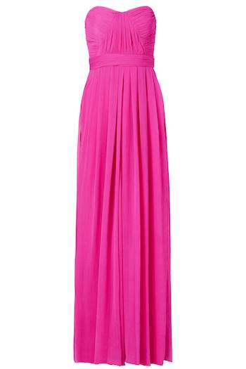 Badgley Mischka Fluorescent Chiffon Gown