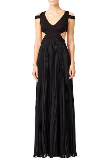 Mignon Black Chevron Twirl Gown