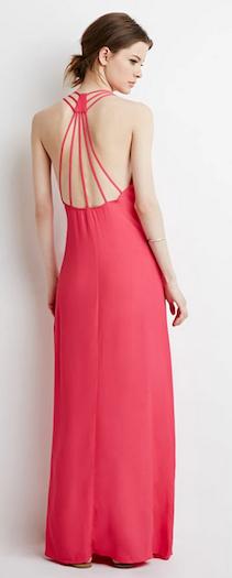 Strappy-Back Maxi Dress