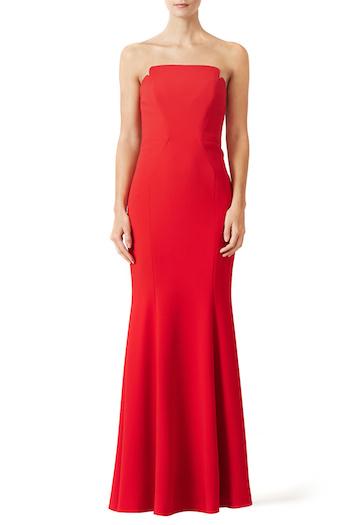 Jill Stuart Red Academy Gown