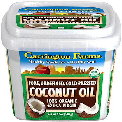 Carrington Farms Organic Pure Unrefined Cold Pressed Extra Virgin Coconut Oil