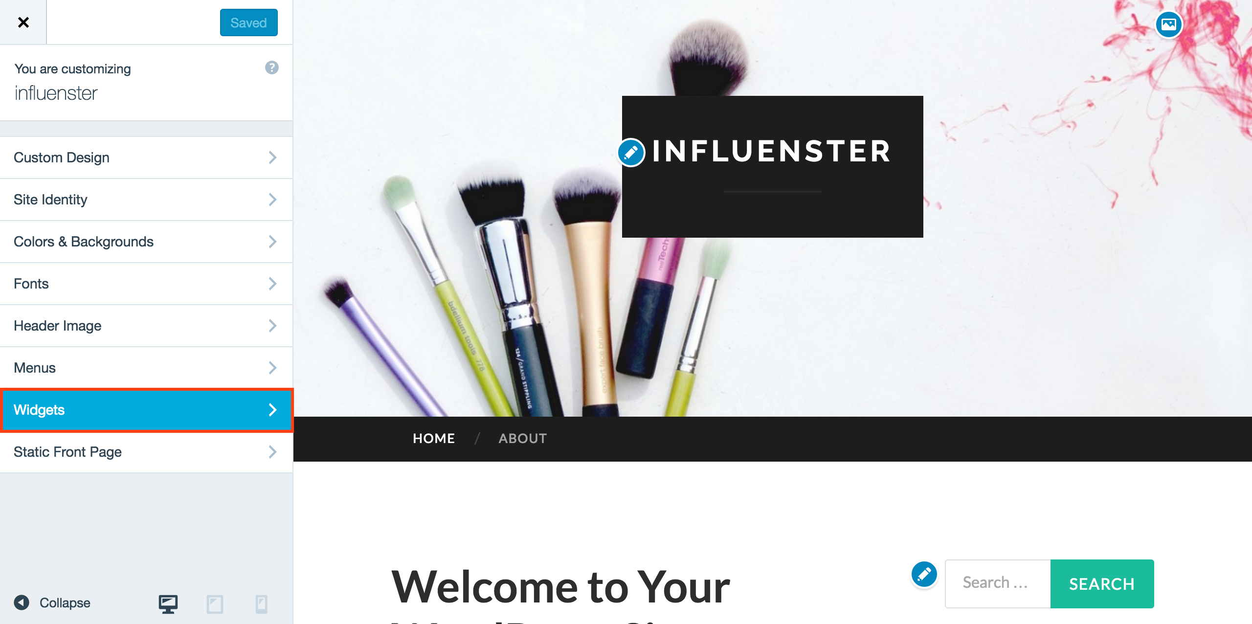 Adding Influenster Blog Widget