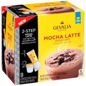 Gevalia Mocha Latte Espresso Single Cups and Froth Packets
