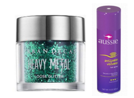 Sparkly scalp products