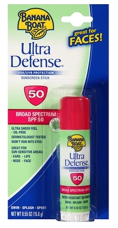 Banana Boat Ultra Defense Broad Spectrum SPF 50 Sunscreen Stick 0.55 oz. Carded Pack