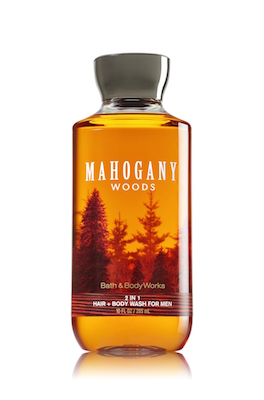 Bath & Body Works Mahogany Woods 2 in 1 Men's Hair + Body Wash 10 O...