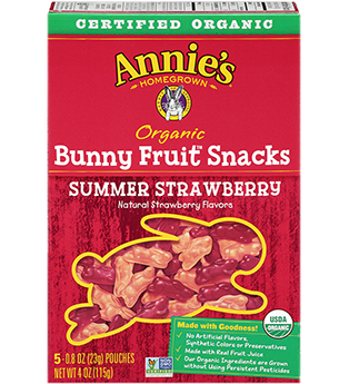 Annie's Homegrown Organic Bunny Summer Strawberry Fruit Snacks