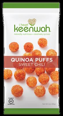 I Heart Keenwah Quinoa Puffs Sweet Chili