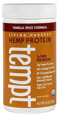 Living Harvest Organic Hemp Protein Powder Vanilla Spice 16 oz