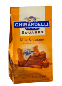 Ghiradelli Milk and Caramel Squares