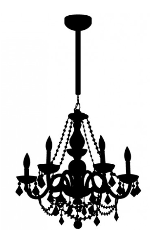 Chain Chandelier Decal