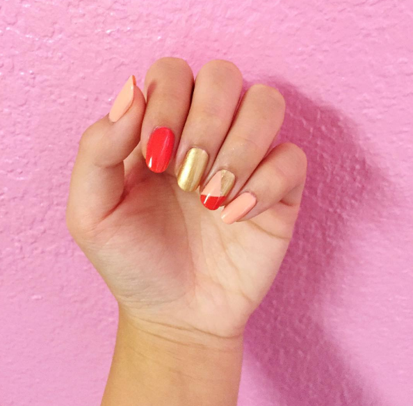 Color Block Nails