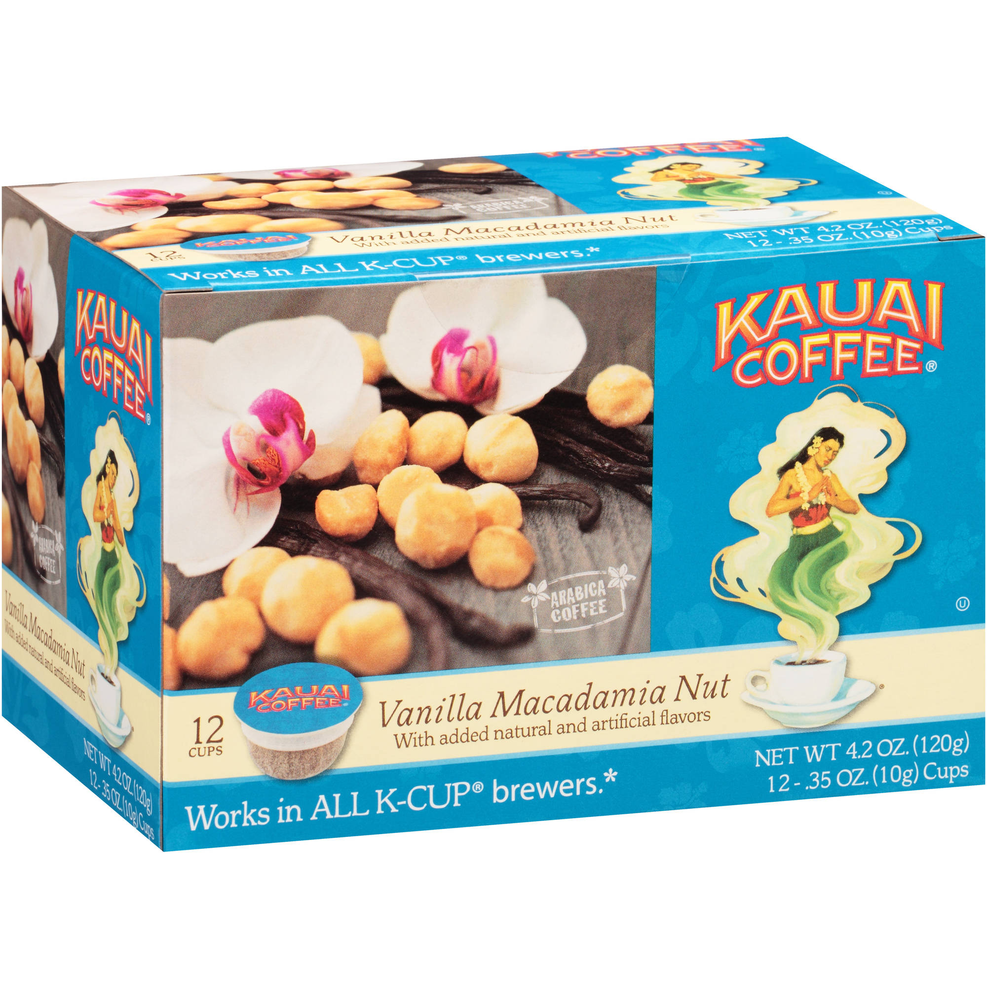 Kuai Coffee Vanilla Macadamia Nut Coffee Single Serve Cups