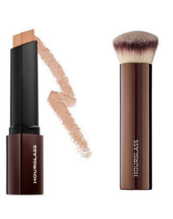 Hour glass foundation and brush