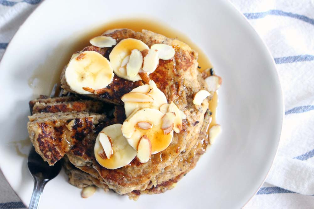 banana chia see pancakes