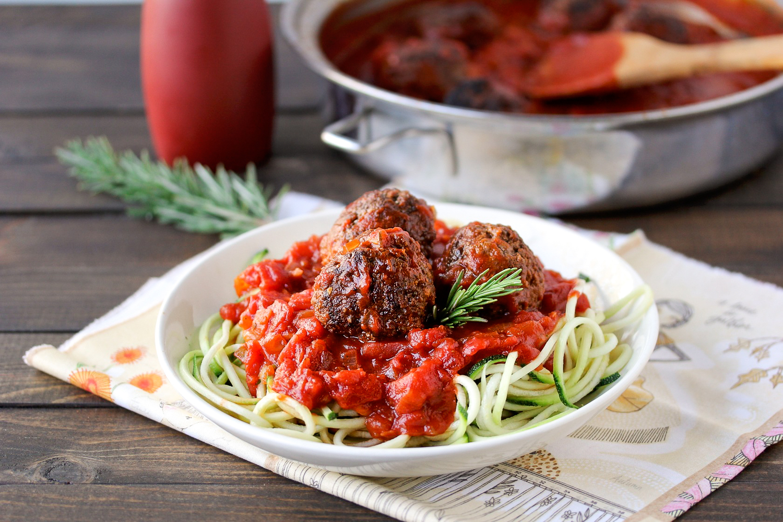 chia meatballs and marinara