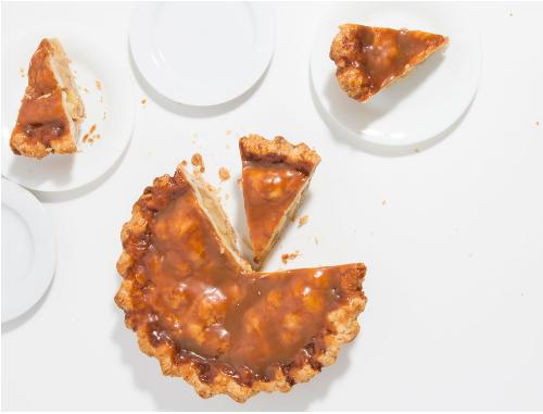 rosemary caramel apple pie