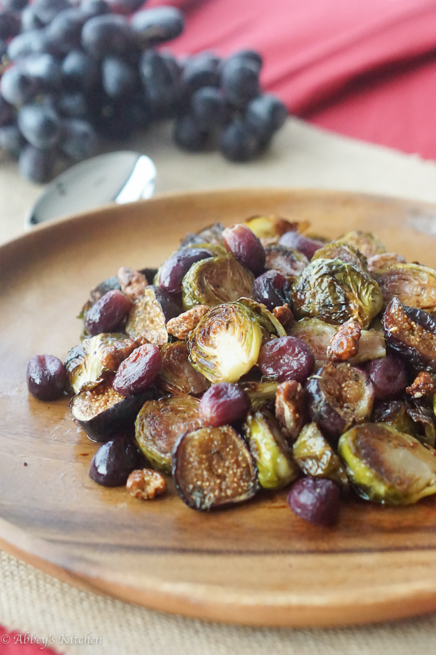 balsamic sprouts and figs