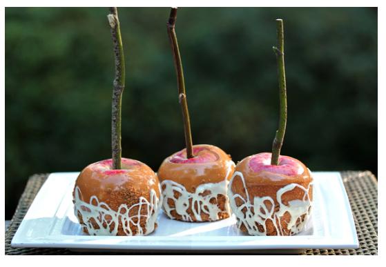 pumpkin spice latte caramel apples