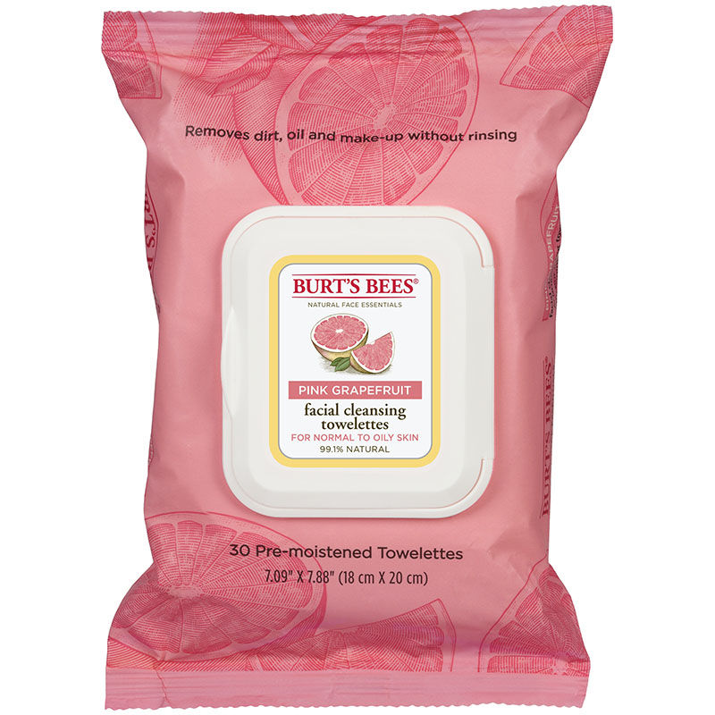 burt's bees facial cleansing wipes pink grapefruit