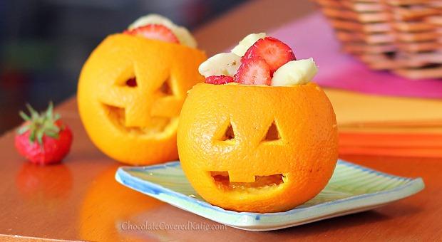 jack-o-lantern fruit bowls
