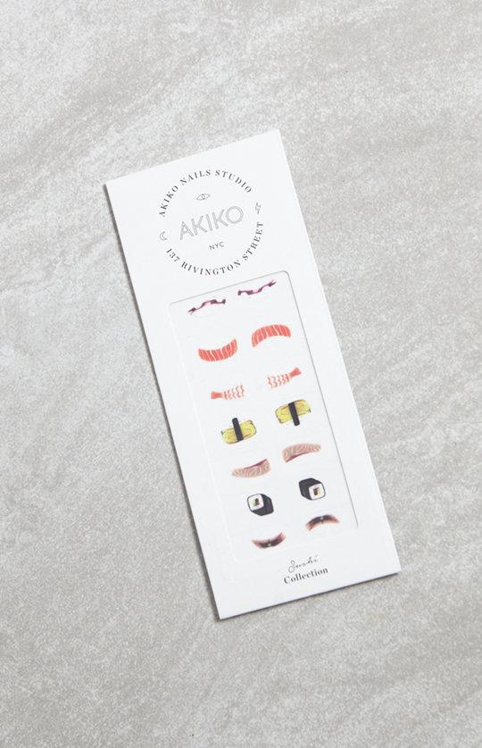 akiko sushi nail decals