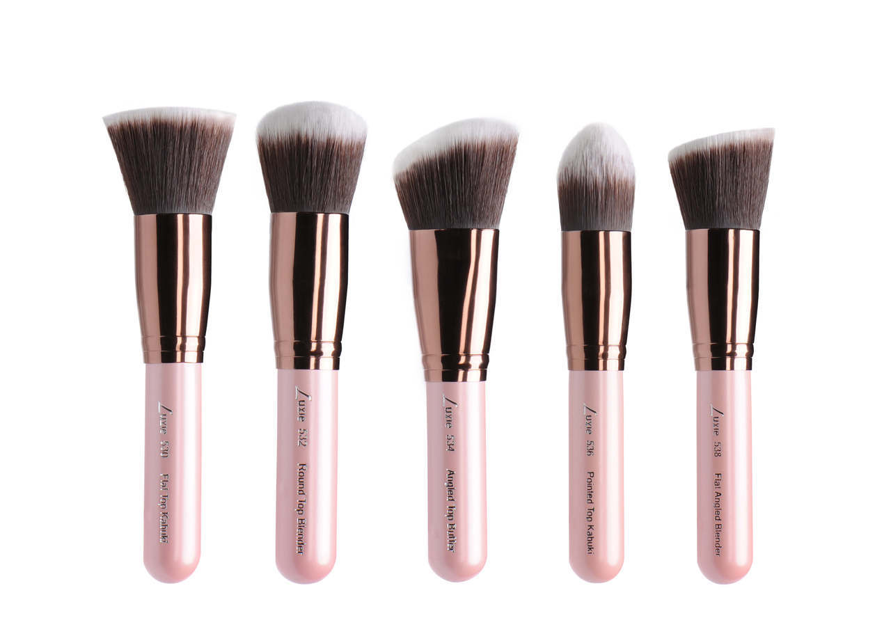 luxie rose gold synthetic brushes