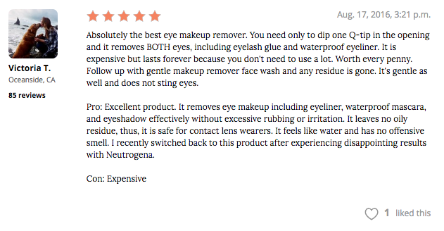 lancome bi-facial double action eye makeup remover