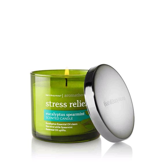 Bath & Body Works Aromatherapy Stress Relief Eucalyptus Spearmint Scented Candle