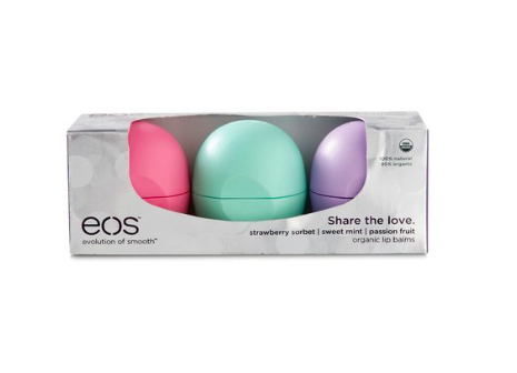 EOS Share The Love Smooth Sphere Strawberry Sorbet Sweet Mint And Passion Fruit