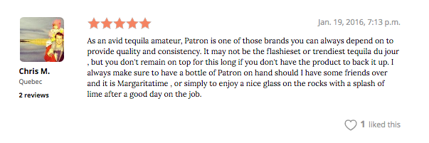 patron review