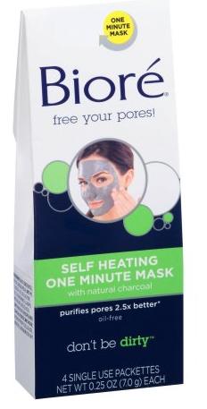 Biore self-heating one minute mask