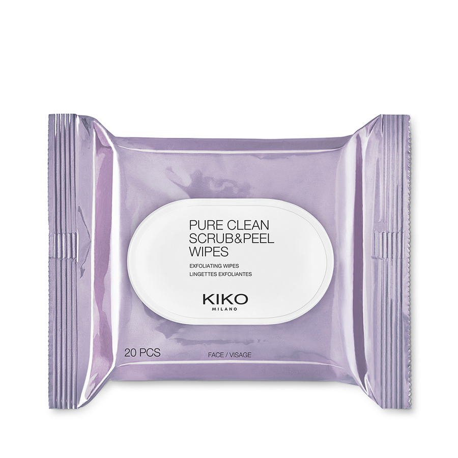 kiko milano pure clean scrbu & peel wipes