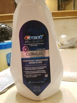 Crest Pro-Health Clinical Care Pro Clean Antigingivitis/Antiplaque Oral Rinse uploaded by Crystal E.