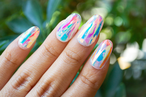 Shattered glass nail art is so easy to get nail art prinsesfo Choice Image