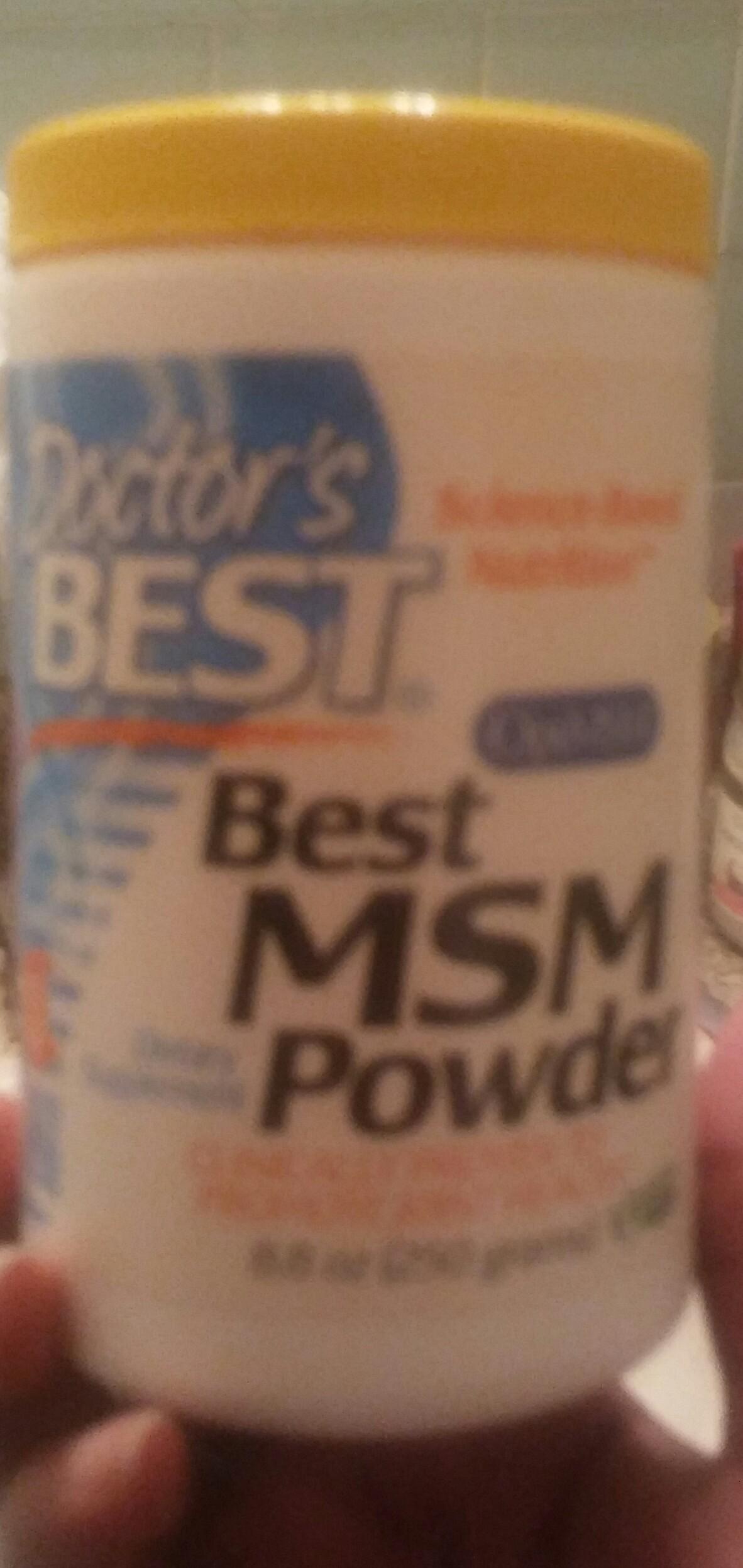 Doctor's Best MSM 1500 uploaded by lyona k.