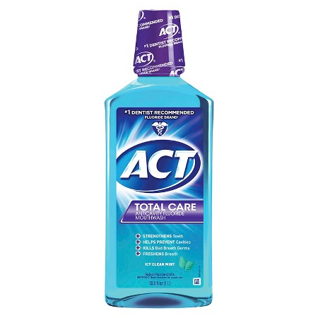 Photo of Act Total Care Mouthwash - Icy Clean Mint (33 oz.) uploaded by Grace M.